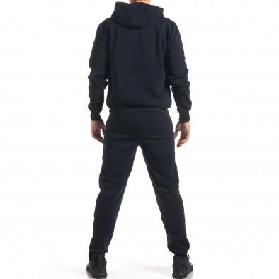 Мъжки син спортен комплект със сива и бяла лента it160916-65 3