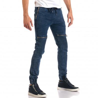 Мъжки дънки с ципове на джобовете it160916-6 4