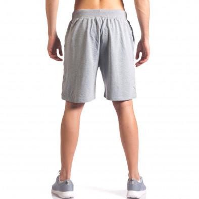 Сиви мъжки шорти за спорт с надпис US NY it260416-19 3