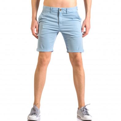 Мъжки сини къси панталони с италиански джобове ca050416-61 2