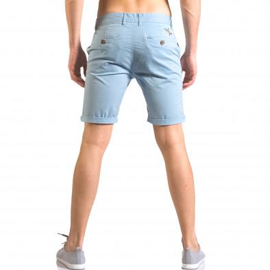 Мъжки сини къси панталони с италиански джобове ca050416-61 3