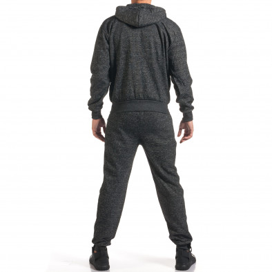 Мъжки тъмно сив спортен комплект с ципове it160916-61 3