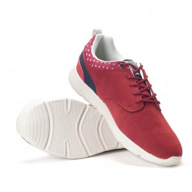 Мъжки червени маратонки с бели подметки it250118-21 4