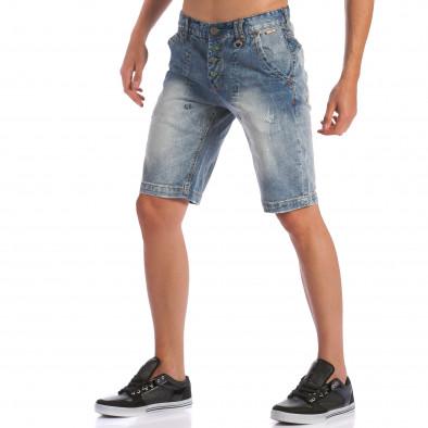Мъжки къси дънки с допълнителни шевове ca100615-28 4
