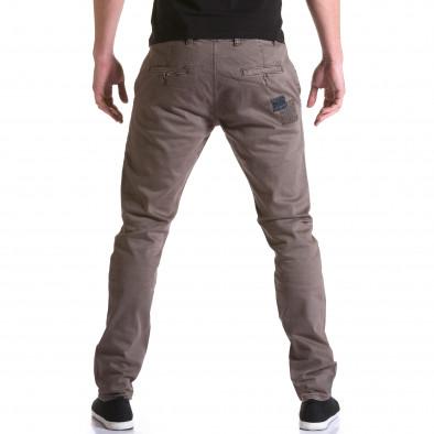 Мъжки кафяв панталон с декоративни кръпки it031215-18 3