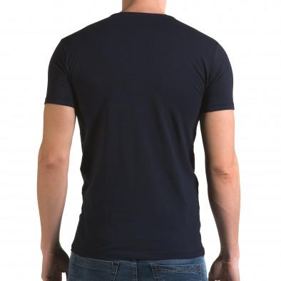 Мъжка синя тениска с панда il120216-8 3