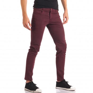 Мъжки червен спортно-елегантен панталон it150816-4 4