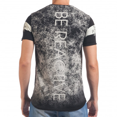 Мъжка черна тениска Think Positive il060616-61 3