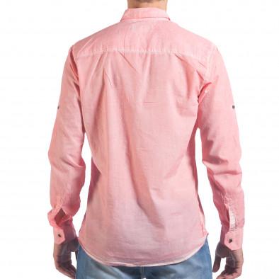 Мъжка розова риза със закопчаване до средата il060616-122 3