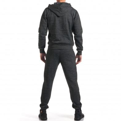 Мъжки сив спортен комплект с надпис New York it210916-2 3