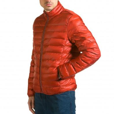 Мъжко червено яке с бежова подплата it110915-4 4