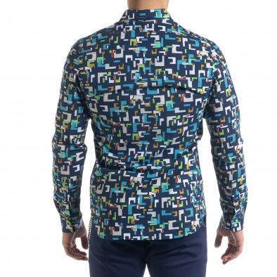 Slim fit мъжка риза геометричен десен tr110320-97 4