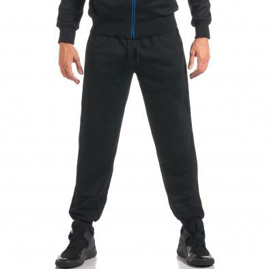 Мъжки черен спортен комплект с надписи it160916-73 5
