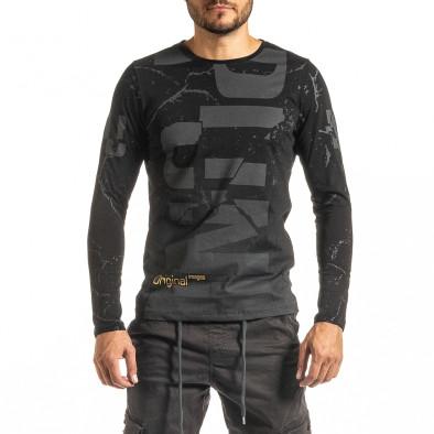 Мъжка черна блуза PUNK tr300920-19 2