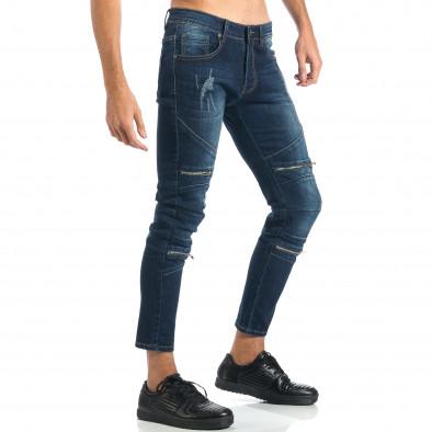 Мъжки дънки с декоративни ципове it260917-72 4