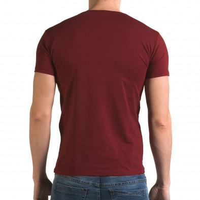 Мъжка червена тениска с панда Lagos 4