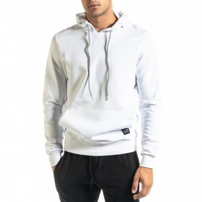 Basic мъжки бял суичър тип анорак tr020920-29 2