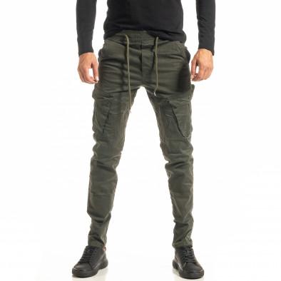 Мъжки зелен Cargo панталон с прави крачоли tr300920-8 2