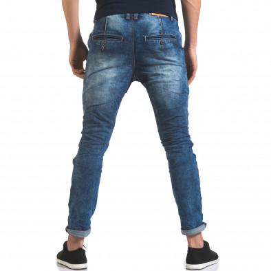 Мъжки дънки тип потури с цип отпред it110316-29 3