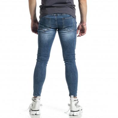 Мъжки сини дънки Destroyed  gr270221-6 3