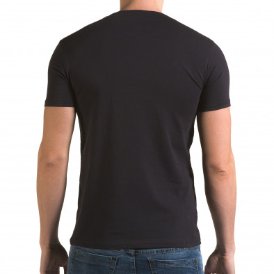 Мъжка синя тениска с номер 4 Lagos 4