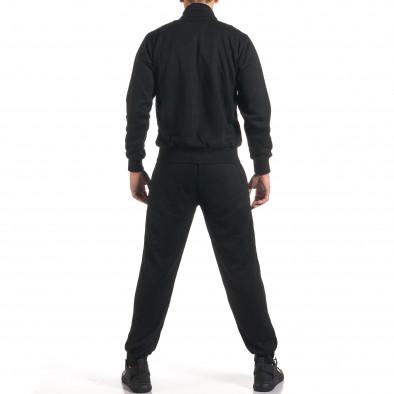 Мъжки черен спортен комплект с надписи it160916-73 3