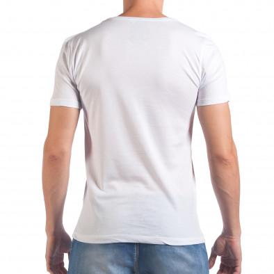 Мъжка бяла тениска с надпис Amazing il060616-94 3