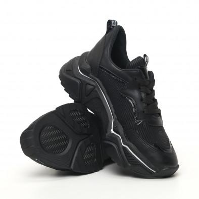Черни дамски маратонки с акцент tr180320-19 4