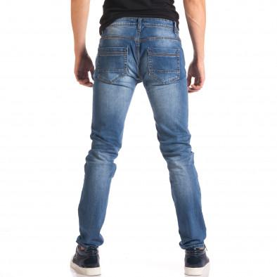 Мъжки дънки с тъмно сини кръпки it150816-29 3