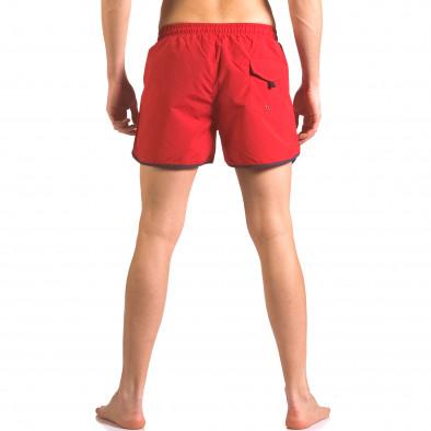 Червени мъжки бански тип шорти с 3 джоба ca050416-11 3