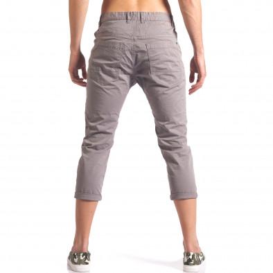 Сив мъжки панталон 7/8 тип потури  it250416-27 3