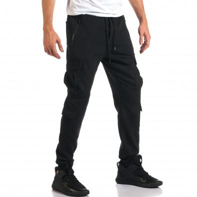 Мъжки черни потури с джобове на крачолите it160916-24 4