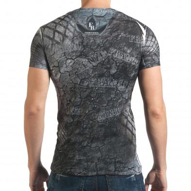 Черна мъжка тениска със супер яка мадама Franco Enzo 4