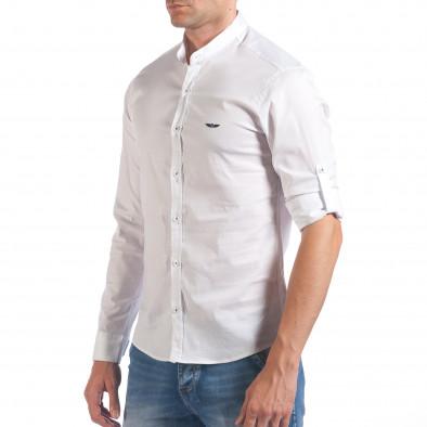 Мъжка бяла риза с попска яка il060616-110 4