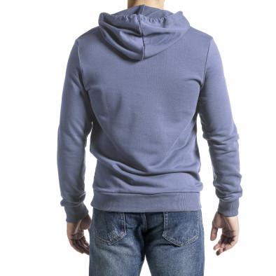 Basic мъжки сиво-син суичър тип анорак tr300821-3 4
