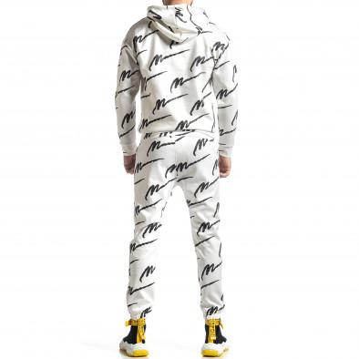 Мъжки бял спортен комплект с принт it010221-62 4