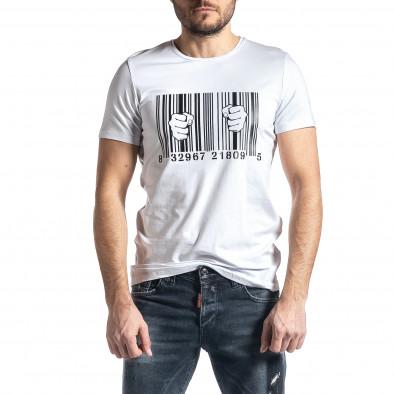 Мъжка бяла тениска Barcode tr010221-21 2