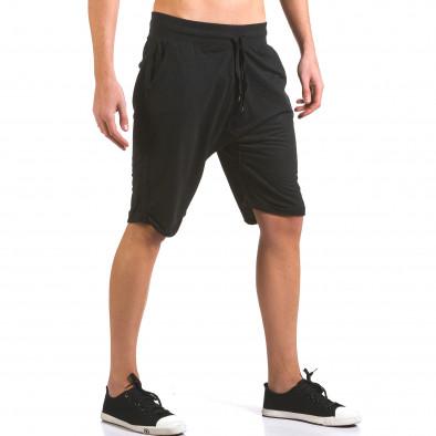 Мъжки черни шорти класически модел Dress&GO 5