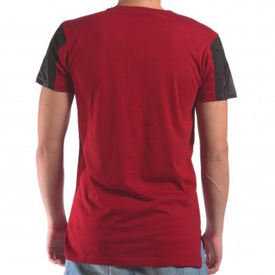 Мъжка червена тениска с геометричен принт il210616-20 3
