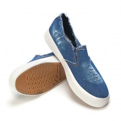 Мъжки сини дънкови кецове slip on it090616-14 4
