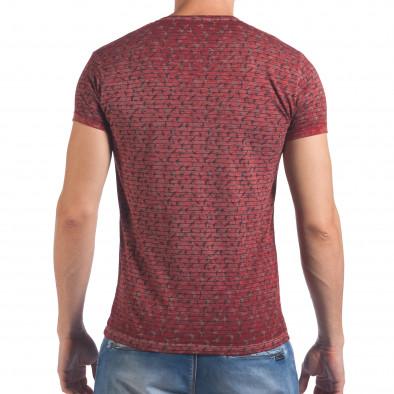 Мъжка червена тениска с малки лястовички il060616-42 3