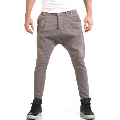 Мъжки сиви дънки с кройка на потури it090216-20 2
