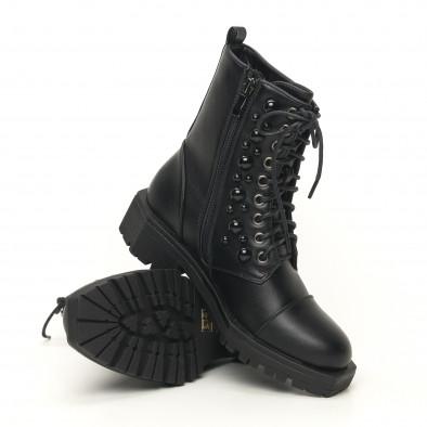 Дамски боти с черни капси груба подметка it051219-20 5