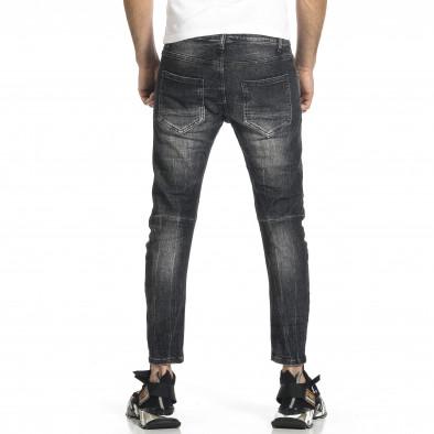 Мъжки черни дънки Cropped Destroyed Paint gr270421-20 3