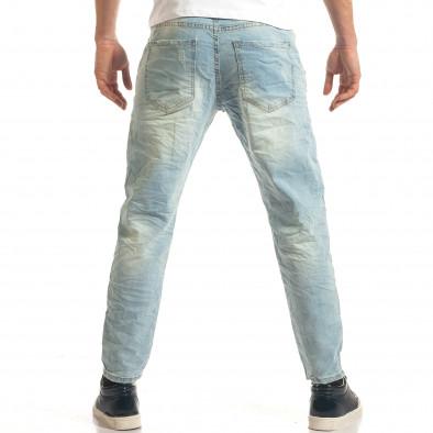 Мъжки светло сини дънки с ластик на кръста it140317-34 3