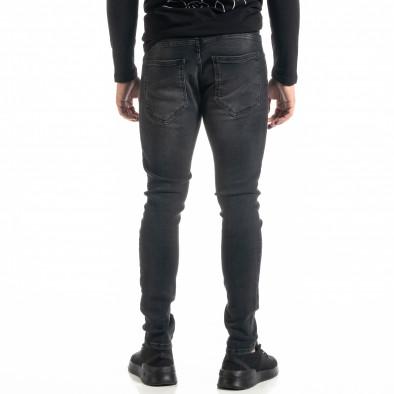 Мъжки черни дънки с леки прокъсвания tr020920-11 3
