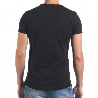 Мъжка черна тениска с череп и знаме il060616-88 3