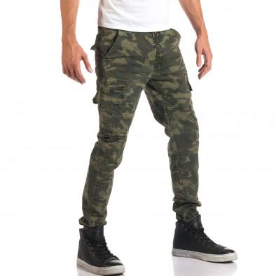 Мъжки камуфлажен панталон с джобове на крачолите it160916-2 4