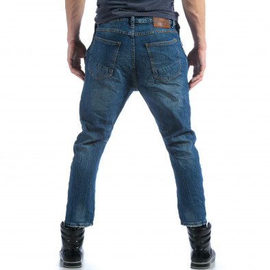 Мъжки сини дънки с много смъкнато дъно  it101114-11 3