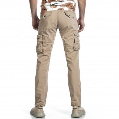 Мъжки бежов панталон с прави крачоли & Big Size tr270421-16 3